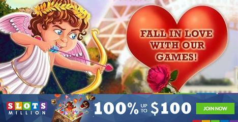 Valentines Day Special at Slots Million Casino