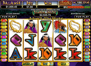 Aztecs Gold Video Slot from Real Time Gaming
