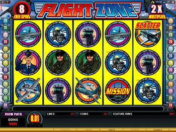 Free spins and multipliers on the Flight Zone Video Slot