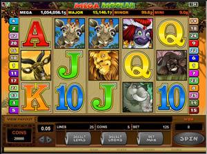 Mega Moolah Progressive Jackpot Video Slot