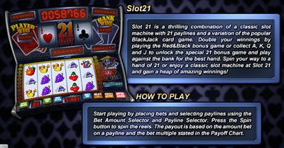 Slot21 Slot Machine