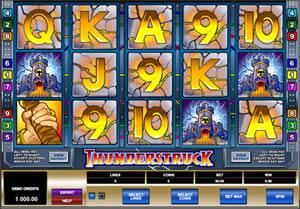 Thunderstruck multi-line video slot machine from Microgaming