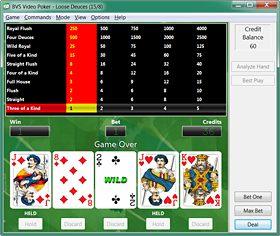 Try the BVS Video Poker Tutor