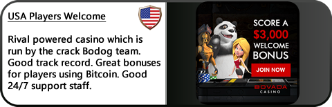 Our Bovada Review shows that the Casino offers USA player's great opportunities