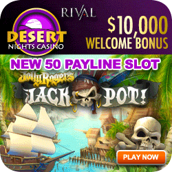 Desert Nights Casino has cool slots, hot bonuses, and is USA Friendly.