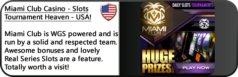Miami Club Casino Review - Check out their daily tournaments! USA Players welcomed!