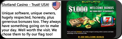 Slotland Casino Review - Unique slots, big jackpot, generous bonuses, trusted casino.
