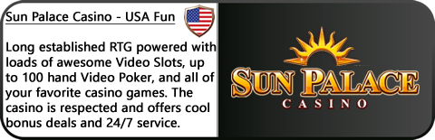 Sun Palace Casino Review - RTG Games, Real Series Video Slots, great bonuses.