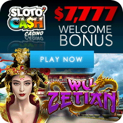 Play the all new Wu Zeitan video slot at Slotocash Casino.