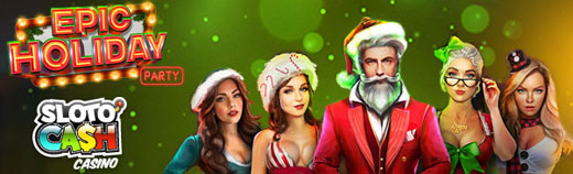Epic Holiday party offer from slotocash casino