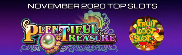 Most played slots Nov 2020
