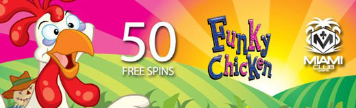 2021 offer 50 free spins from Miami Club Casino
